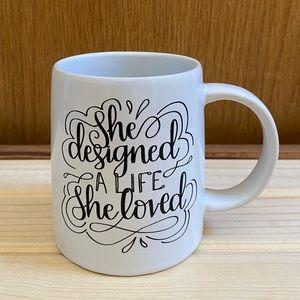 """""""She Designed A life She Loved"""" Erin Condren mug"""